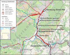 Train - Zweibruecken  Hbf ( Station) to Homburg/Saar Hbf ( Station )