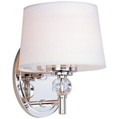 """$70.91 Maxim Rondo 8 1/2"""" High Polished Nickel Wall Sconce  lampsplus.com   (same as the one from lightingdirect.com which said it's out of stock)"""