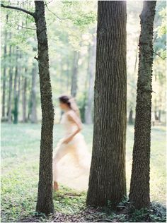 Fine art film forest bridal session by destination wedding photographer Brushfire Photography in Birmingham Alabama on fuji 400h.