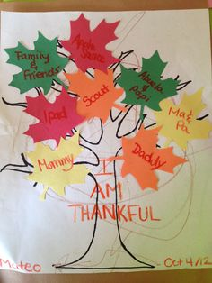 Thanksgiving tree Thanksgiving Tree, Thanksgiving Games, 18 Month Old Activities, Fall Themes, Early Childhood Education, Autumn Theme, Happy Fall, Fall Crafts, Social Studies