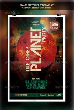 Planet Party Flyer