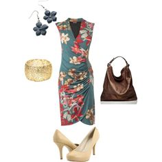 ... to a luau! Orchid Print Dress