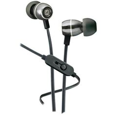 Ihome Noise-isolating Metal Earbuds With Microphone (gunmetal) (pack of 1 Ea)