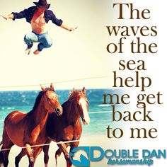 """Our May mantra: """"The waves of the sea help me get back to me."""" What's yours?"""