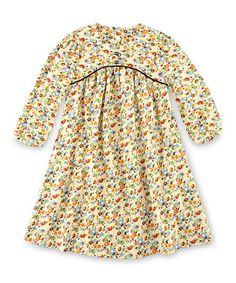 This Beige Floral L'écolière Dress - Toddler & Girls is perfect! #zulilyfinds