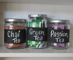 Diy Chalk Labels with Mail Labels & Recycled Jars