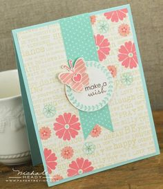 Make A Wish Card by Nichole Heady for Papertrey Ink (November 2012)
