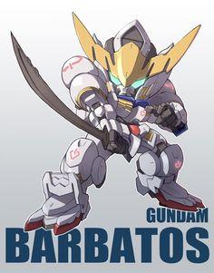 Gundam Barbatos the Form Gundam Wing, Gundam Art, Blood Orphans, Gundam Iron Blooded Orphans, Mecha Anime, Super Robot, Gundam Model, Mobile Suit, Chibi