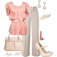 Pretty in Pastel Pink by romigr99 on Polyvore featuring polyvore, fashion, style, Hobbs, Dolce&Gabbana, Marc Jacobs, Worthington, Jon Richard, Paul Smith and Elizabeth Arden