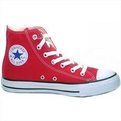 344499d57463 Converse All Star Hi Shoes - Red Women s Converse