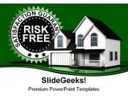 Guaranteed Home Real Eastate PowerPoint Backgrounds And Templates 1210