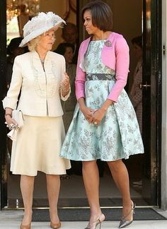 Camilla, Duchess of Cornwall and the First Lady Michelle Obama