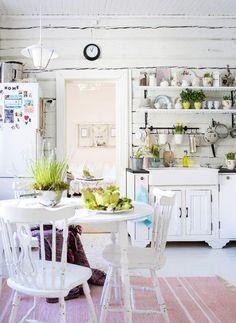 Hirsitalon valkoinen keittiö   Unelmien Talo&Koti