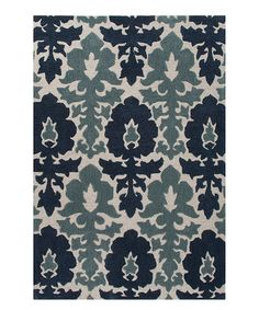 This Blue & Gray Damask Rug by Jaipur Rugs is perfect! #zulilyfinds