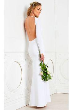 Lurelly Monaco Gown in White | REVOLVE