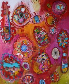 Modern whimsical abstract  Second Time Around in by JodiOhl, $375.00  New original now listed!