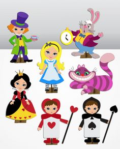 Alice In Wonderland Tea Party Food, Visual Memory, Flannel Boards, Felt Crafts, Minnie Mouse, Clip Art, Disney Characters, Prints, Pattern