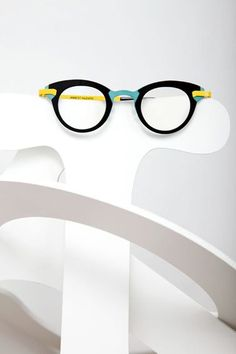 Anne et Valentin Eyewear in St. Louis from a Unique Eyeglass Boutique, cool reader glasses, color block glasses frames, black yellow and green glasses frames, (scheduled via http://www.tailwindapp.com?utm_source=pinterest&utm_medium=twpin)
