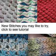 Many Video tutorials and patterns of Crochet Stitches - Meladora's Creations