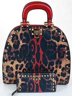 Reilly Pebbled Leopard Print Leatherette Satchel & Wallet SET (Black Handle) Fourever Funky http://www.amazon.com/dp/B00N5FDENC/ref=cm_sw_r_pi_dp_8t3yub13D2NYA
