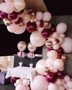 The most devine colour combo you be ever seen Sweet 16 Birthday, Mom Birthday, Birthday Bash, Birthday Parties, 21st Bday Ideas, 21st Birthday Decorations, Wedding Decorations, Balloon Garland, Balloon Decorations