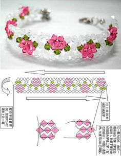 beaded bracelet patterns There is a lot of beaded stuff thats just quot;too muchquot; Beaded Crafts, Jewelry Crafts, Handmade Jewelry, Handmade Beads, Diy Crafts, Beaded Bracelet Patterns, Beading Patterns, Beaded Bracelets, Free Beading Tutorials