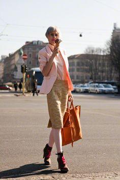 street fashion Milan 2012