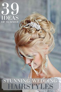 Stunning Summer Wedding Hairstyles See more: www.weddingforwar The post Stunning Summer Wedding Hairstyles See more: www.weddingforwar appeared first on frisuren. Wedding Hairstyles For Long Hair, Wedding Hair And Makeup, Up Hairstyles, Hairstyle Ideas, Hair Ideas, Summer Hairstyles, Vintage Hairstyles, Wedding Hair Updo With Veil, Bride Hairstyles With Veil
