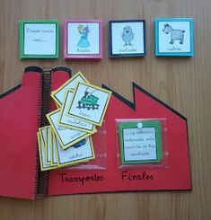 Creciendo con libros y juegos: HOY OS ENSEÑO A HACER UNA FÁBRICA PARA INVENTAR CUENTOS File Folder Activities, Class Activities, Writing Activities, Speech Language Therapy, Speech And Language, Teachers Corner, Teaching Time, English Activities, Kids Class