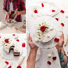 How about a cake for Valentine's Day? Pinterest Blog, Feta, Valentines Day, Cheese, Table Decorations, Cake, Marriage Anniversary, Engagement, Bakeware