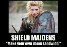 Shield Maidens.  In Norse legends, even the women got to kick butt.  From http://xenohistorian.faithweb.com/europe/eu07a.html