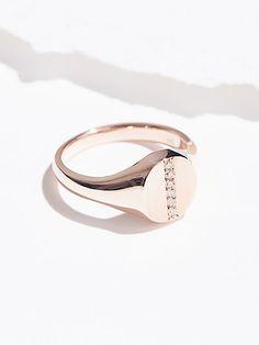 Product Image: 14K Diamond Bar Signet Ring