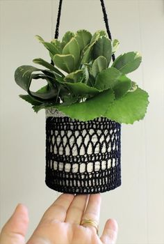 20 Free Crochet Flower Pot Patterns | DIY to Make