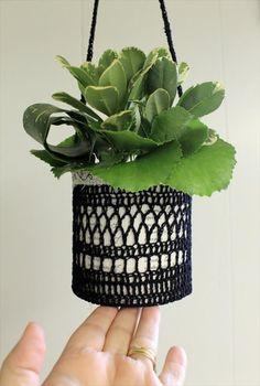20 Free Crochet Flower Pot Patterns | DIY to Make