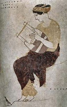 """Homer was the first major writer (""""The Odyssey"""") and to set the musical scene he can be quoted on songs: """"What is it people always want to hear? The latest tune that's warbled through the air"""" (""""The Odyssey"""" i Ancient Music, Ancient Egyptian Art, Ancient Aliens, Ancient Greece, Egyptian Mythology, Egyptian Goddess, Greek History, Ancient History, Art History"""