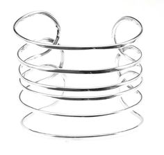 """Six 6 Wire 925 Solid Sterling Silver Cuff Bracelet 2"""" Wide 26 Grams NEW #TD #Cuff"""