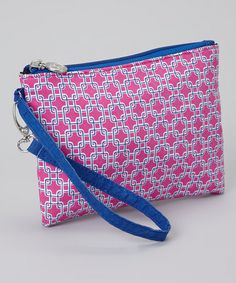 This Pink   Blue Squares Wristlet by cul-de-sac is perfect!  zulilyfinds 50f014ebcd9