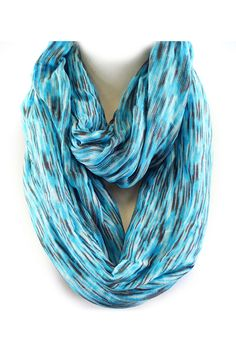Ikat Infinity Scarf in Blue on Emma Stine Limited