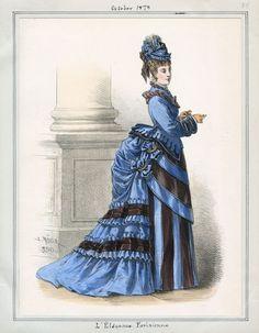 Fashion Plate - L'Élégance Parisienne, October 1873
