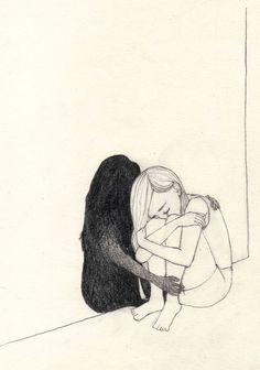 Sad Drawings, Dark Art Drawings, Art Drawings Sketches Simple, Drawing Tips, Pencil Drawings, Deep Drawing, Drawing Skills, Art And Illustration, Dark Art Illustrations