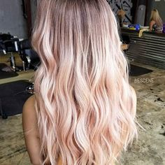 Amazing Baby Pink Hair Color Shades for Women 2019 Haare Blond Rose, Rose Gold Hair Blonde, Blonde Hair Looks, Rose Gold Toner Hair, Golden Blonde, Ash Blonde, Baby Pink Hair, Pastel Pink Hair, Long Pink Hair