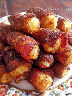 Sweet Bacon Tator Tots #appetizers