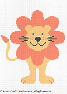 Crochet Patterns- CUTE LION Baby Afghan Pattern ***EASY