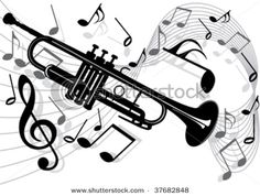 trumpet+clip+art | Gold Music Notes Clip Art | devin | Pinterest ...