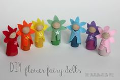 These figures could be used in a nativity scene...instead of the fairies or any story. DIY flower fairy dolls tutorial