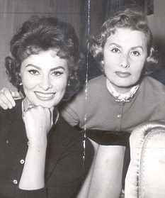 Sophia Loren with her mother