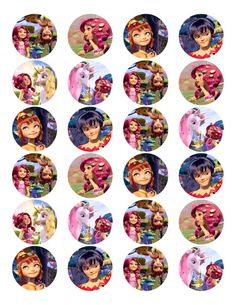 Mia and Me Edible Photo Cupcake/ Cookie Toppers by LornaBrabant