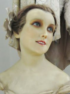 Antique wax mannequin