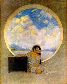 Pandora's Box by Maxfield Parrish...I do not have this one, so if ya know where I can get a copy, it would be much appreciated!!