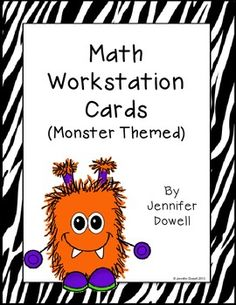 These are math workstation cards that are monster themed. They can be put in a pocket chart so students know what station to do during…